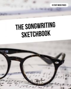 The Songwriting Sketchbook - All 8-line Staff Pages
