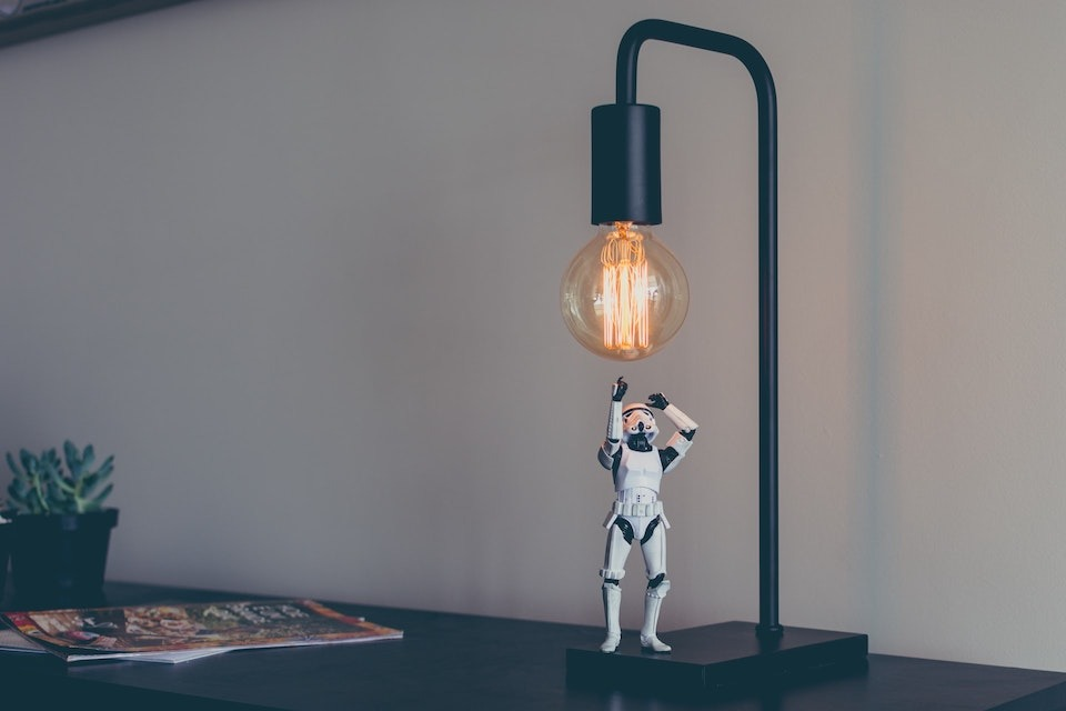 Nine Lessons as a Creative Entrepreneur - Star Wars Stormtrooper punching a lightbulb