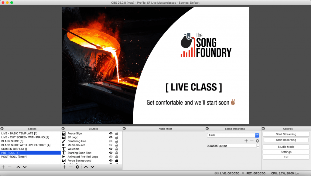 OBS Studio - How to Livestream | The Song Foundry